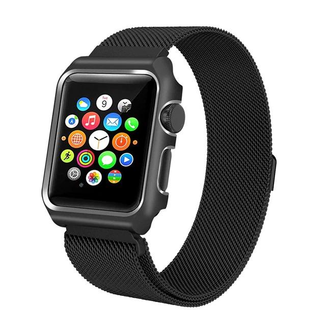 Dây đeo thay thế cho Apple Watch 38mm Kakapi thép không ghỉ - Hàng chính hãng