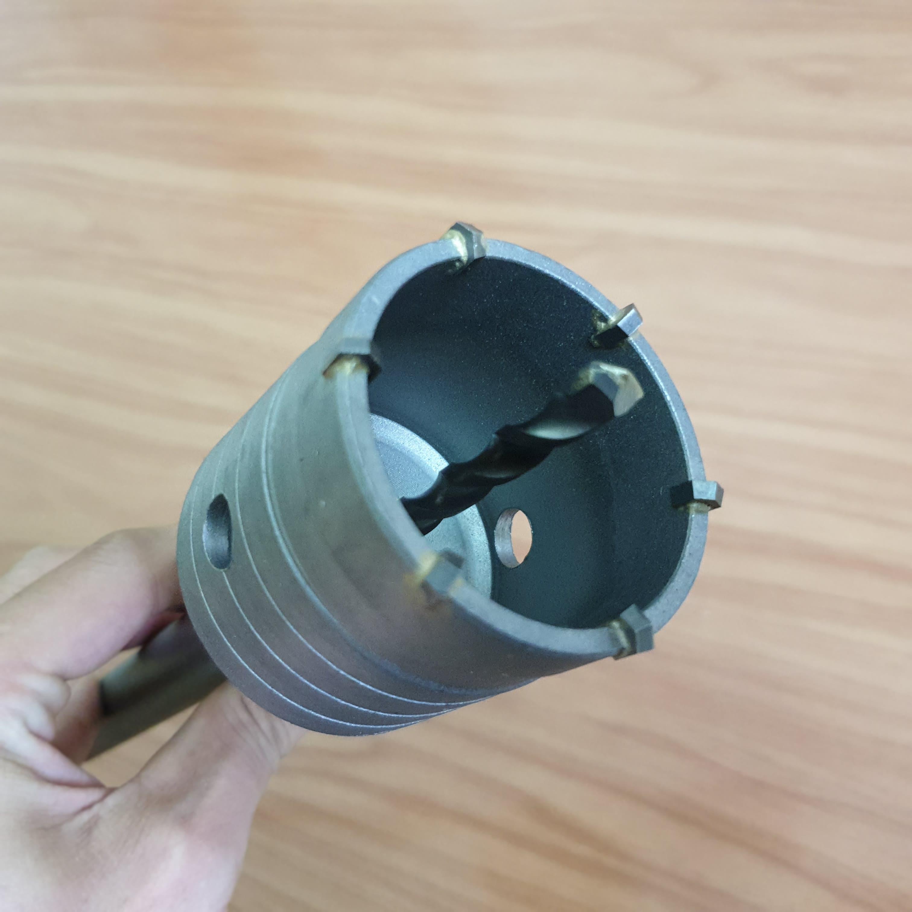 Mũi khoan rút lõi tường chân máy khoan bê tông SSD cho thợ điện và thợ lắp điều hòa (chân trục và mũi khoét 65mm)