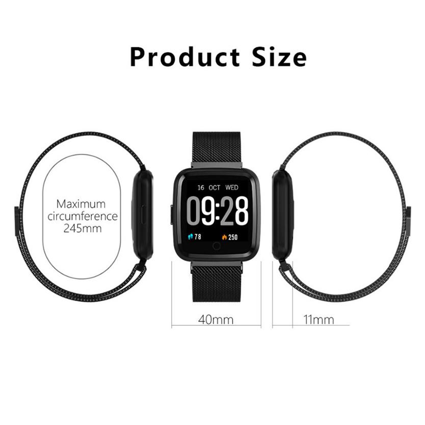 Đồng hồ thông minh theo dõi sức khỏe smartwatch Colmi Y7P dây thép (Bạc) - Hàng Chính Hãng