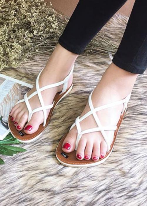 Sandal bệt đan chéo xinh