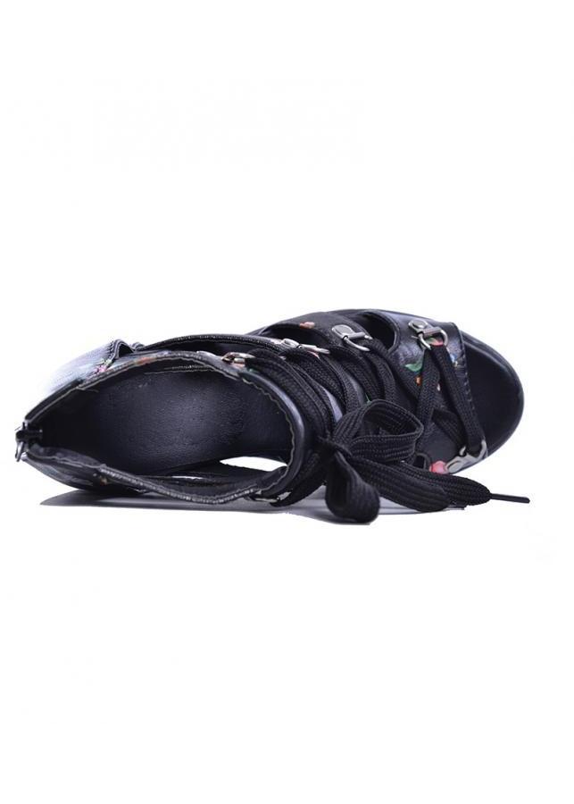 Giày sandal nữ đế xuồng cá tính S087D