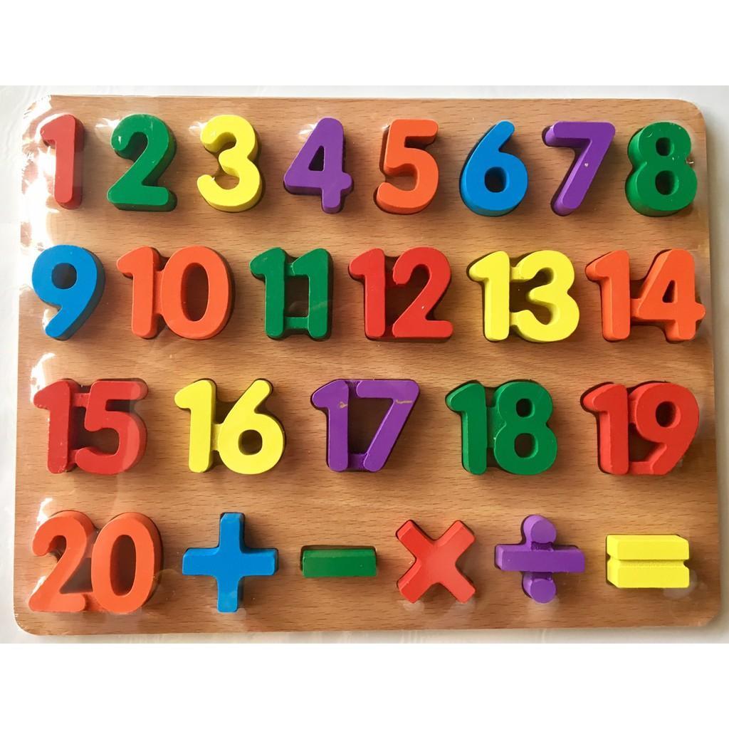 Combo bảng chữ và số nổi hàng Việt Nam cao cấp 20x30 cm cho bé