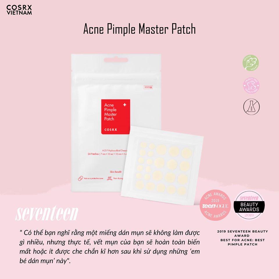Miếng dán gom cồi mụn Cosrx Acne Pimple Master Patch (Nhập khẩu)