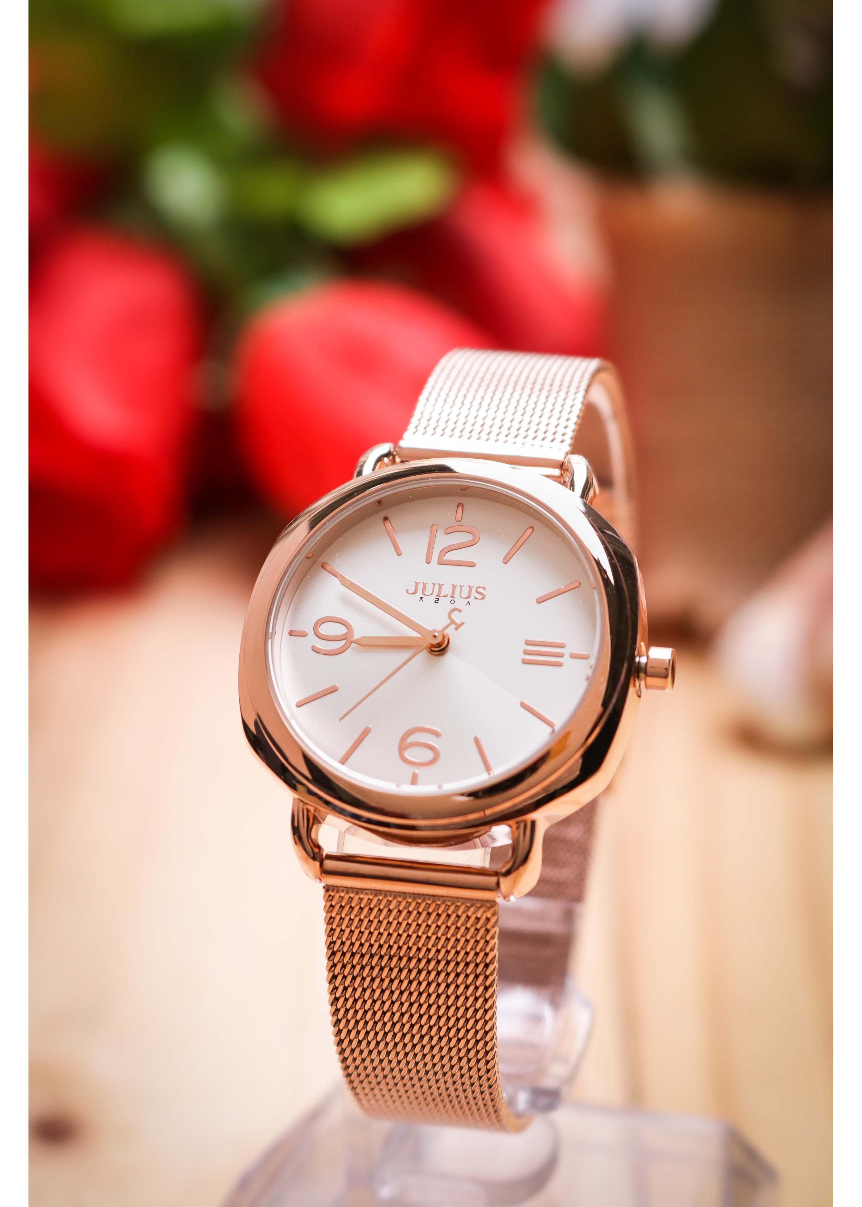 Đồng hồ nữ Julius Hàn Quốc JA-1191 dây thép
