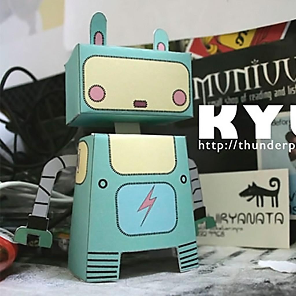Mô hình giấy đồ chơi Robot Toy Kyuu