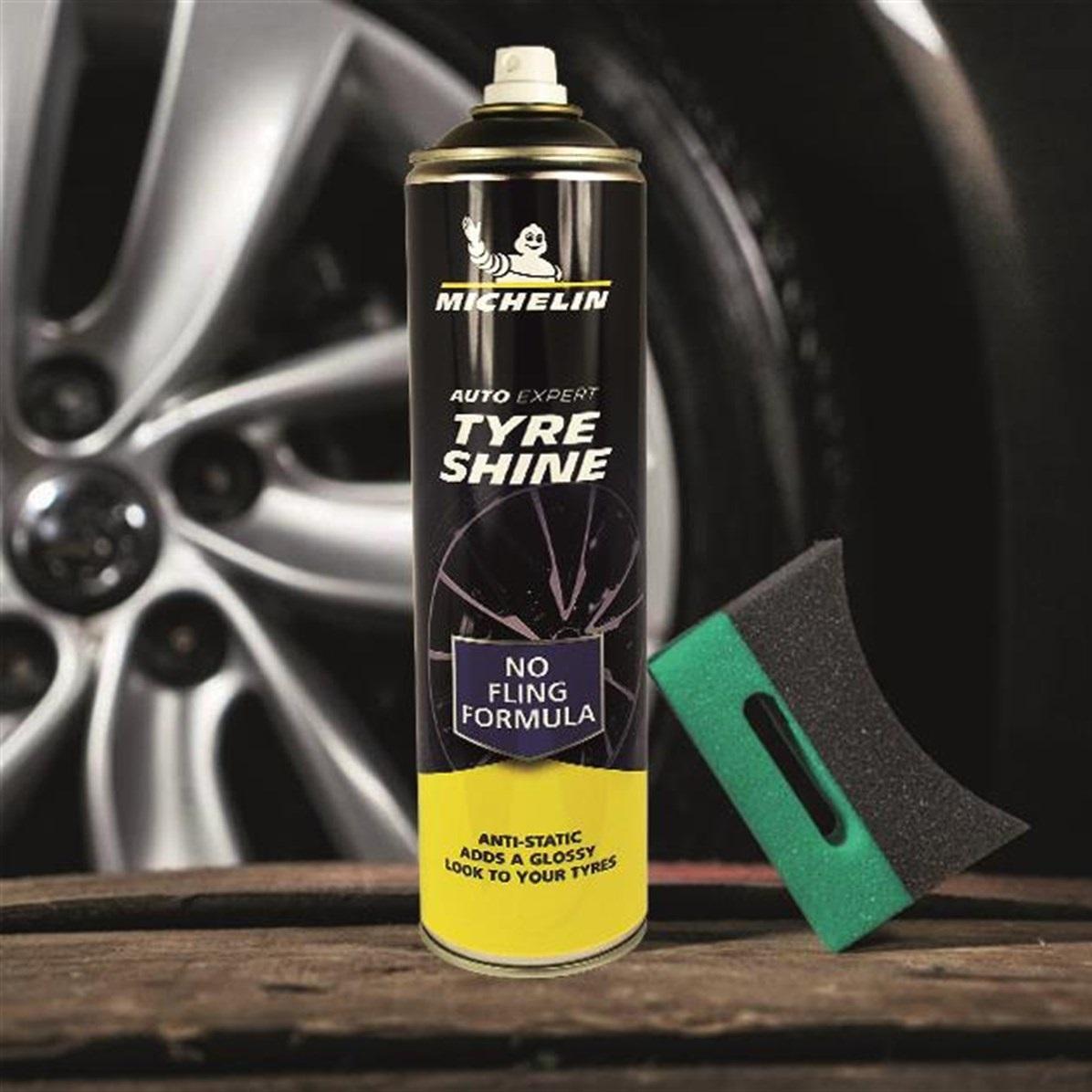 Chai xịt vệ sinh và bảo dưỡng làm bóng lốp ô tô Michelin W31432 - giảm nhiệt, ngăn ngừa nứt bánh xe, duy trì vẻ sáng bóng