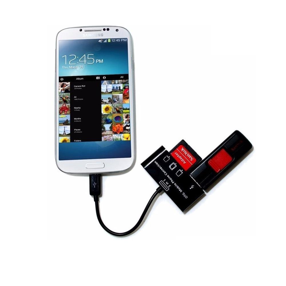 Đầu đọc thẻ nhớ thẻ SD USB chuyển đổi dữ liệu Android OTG 3 trong 1 cắm chuột cho điện thoại 24 - Hàng Chính Hãng