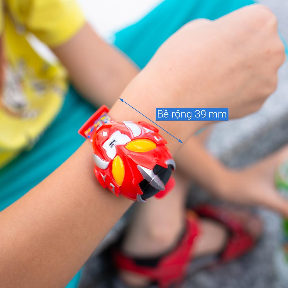 Đồng hồ điện từ trẻ em Skmei 1239 siêu nhân dây cao su (Đỏ)