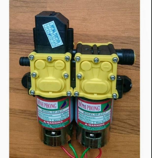 Máy BƠM ÁP LỰC mini đôi 120W( new) rửa xe phun thuốc cực mạnh
