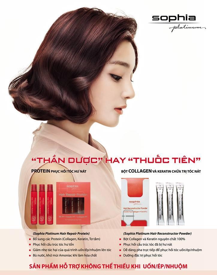Protein Phục Hồi Hư Nát Sophia Platinum Hair Repair Protein (13mlx10) tặng kèm móc khoá