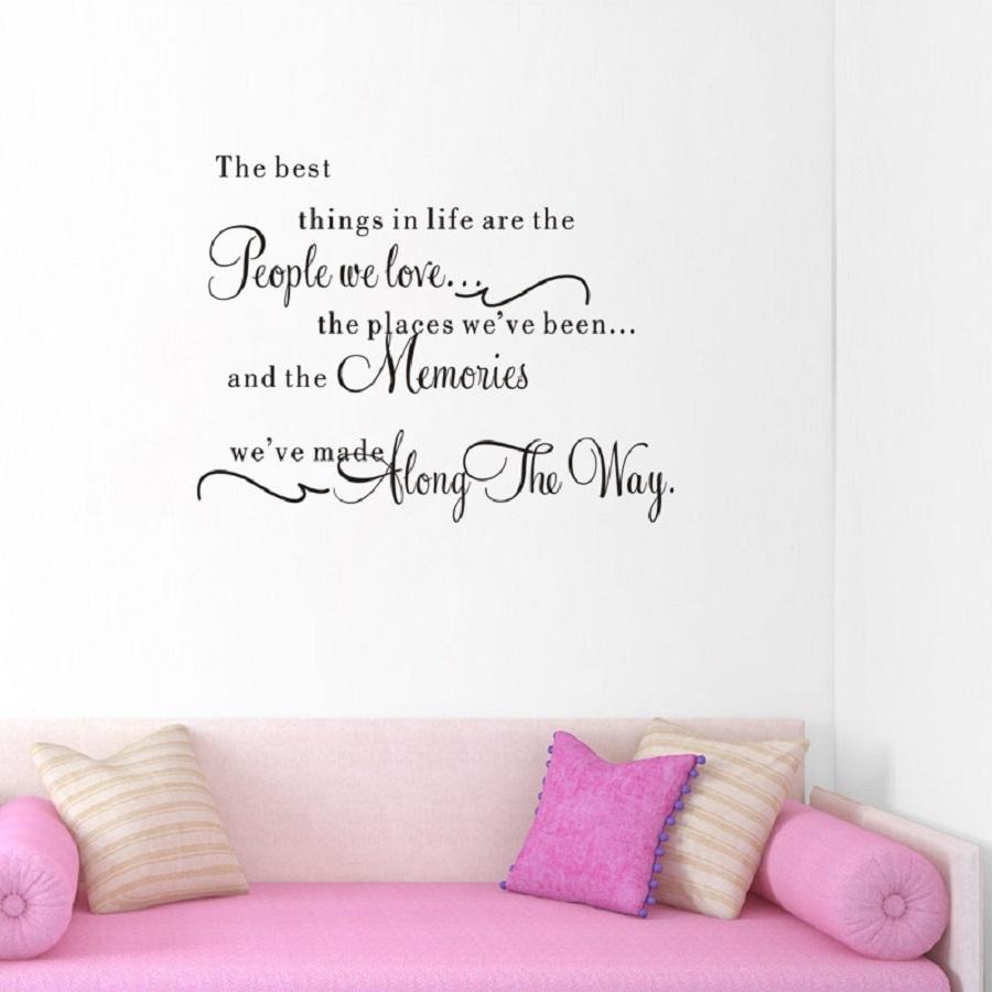 Decal dán tường chữ truyền thông điệp Những điều tuyệt vời nhất trên đời