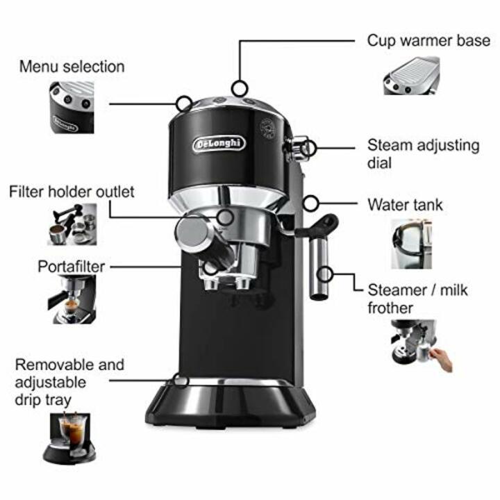 Máy pha cà phê cao cấp nhãn hiệu Delonghi EC685.M công suất 1300W, dung tích 1,1 lít - Hàng Nhập Khẩu