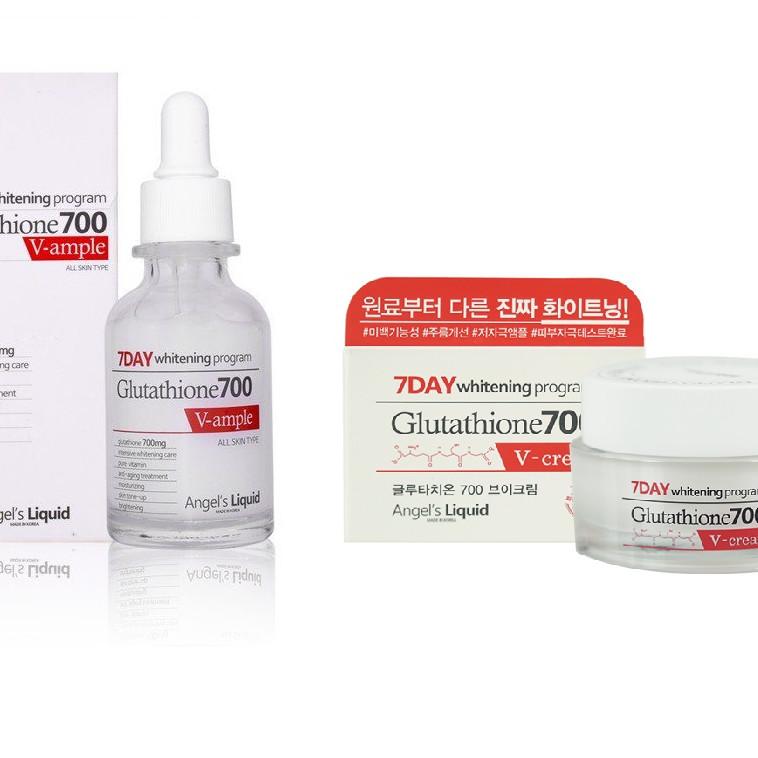 Bộ Serum & Cream Dưỡng Trắng Da 7DAY Whitening Program Gutathione 700 V