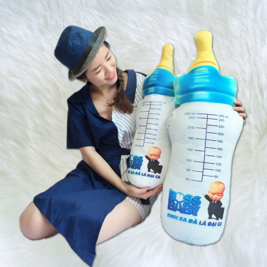 Gối Ôm 3D Bình Sữa (60cm)