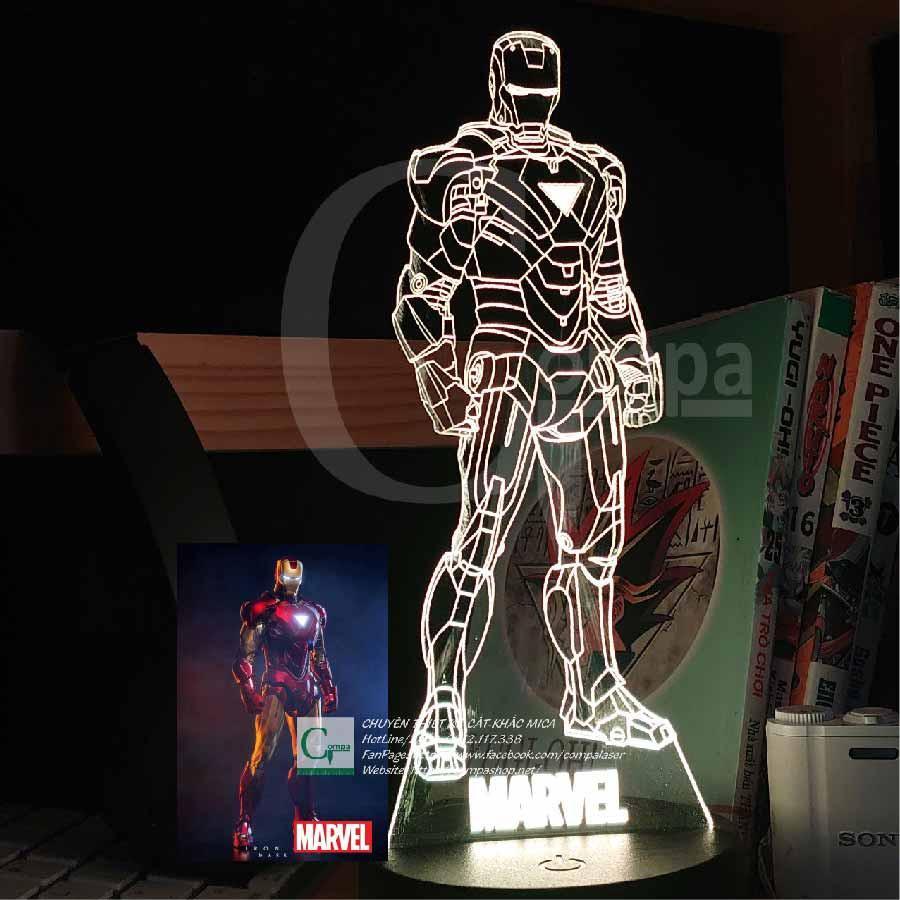 Đèn Ngủ Siêu Anh Hùng Marvel IronMan SMRV0301 16 màu tủy chỉnh, quà tặng độc đáo, quà tặng sinh nhật
