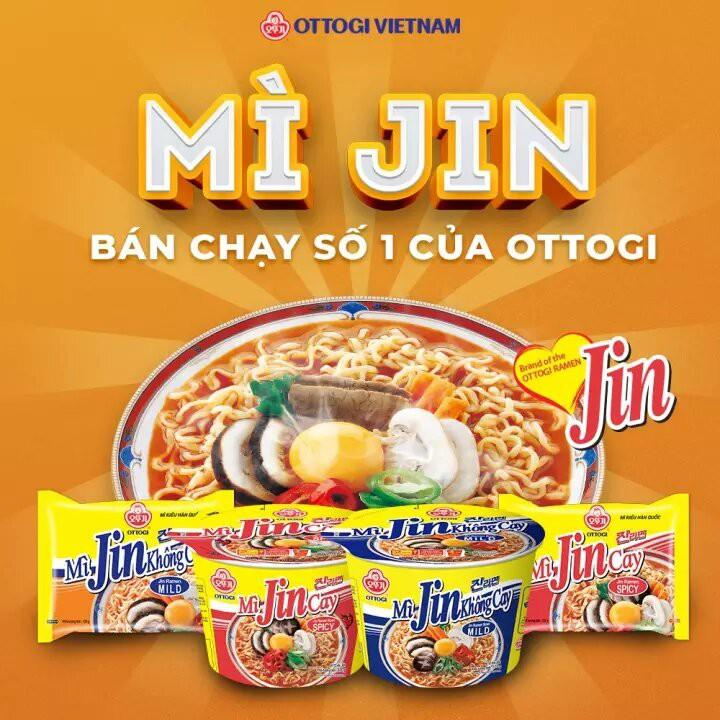 Combo 6 Ly Mì Jin Cay Ottogi 65g