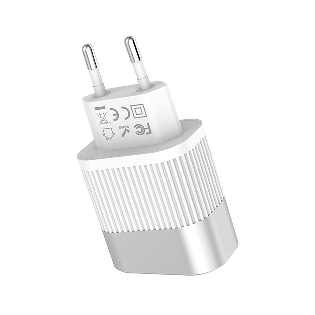 Củ sạc hiển thị đèn LED sạc nhanh 2.4A Hoco C40A + Tặng Cáp Micro USB - Chính Hãng