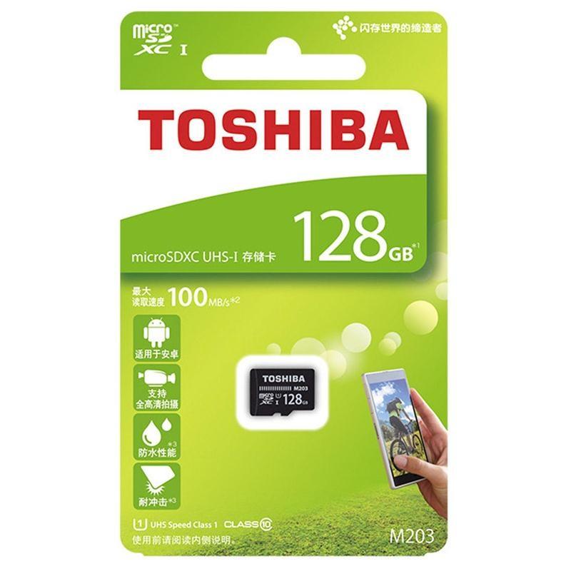 Thẻ nhớ MicroSDXC Toshiba M203 UHS-I U1 128GB 100MB/s - chuyên camera và điện thoại (Đen) - Hàng chính hãng