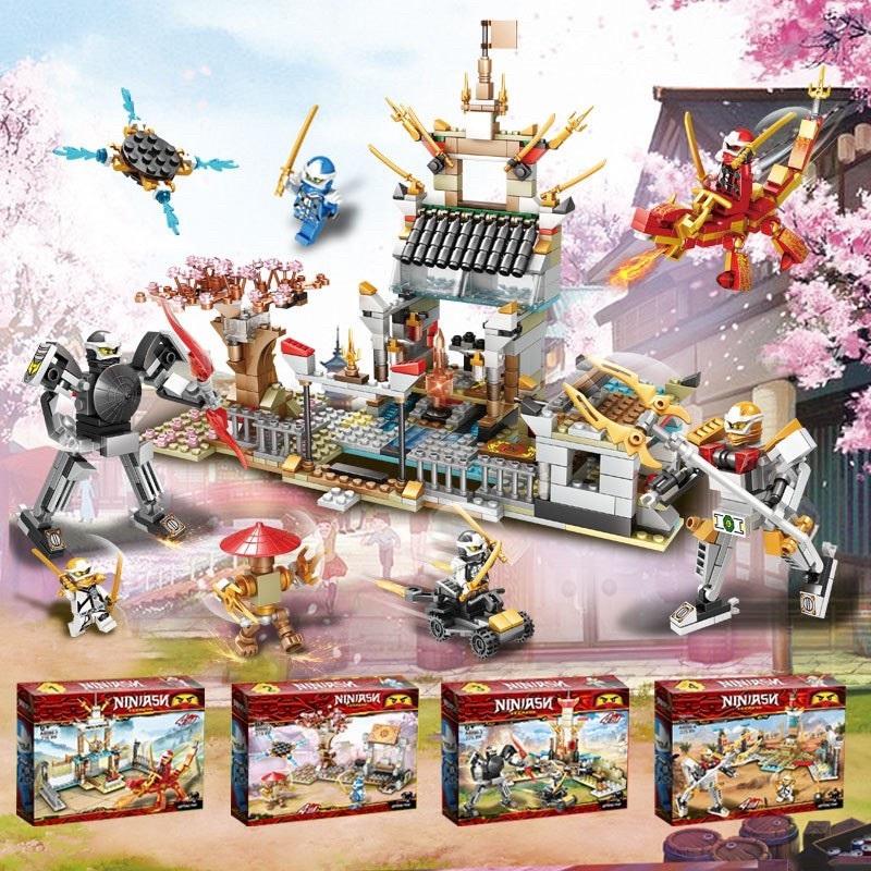Đồ chơi Lắp Ráp ninjago ngôi đền huyền bí full 4 bộ