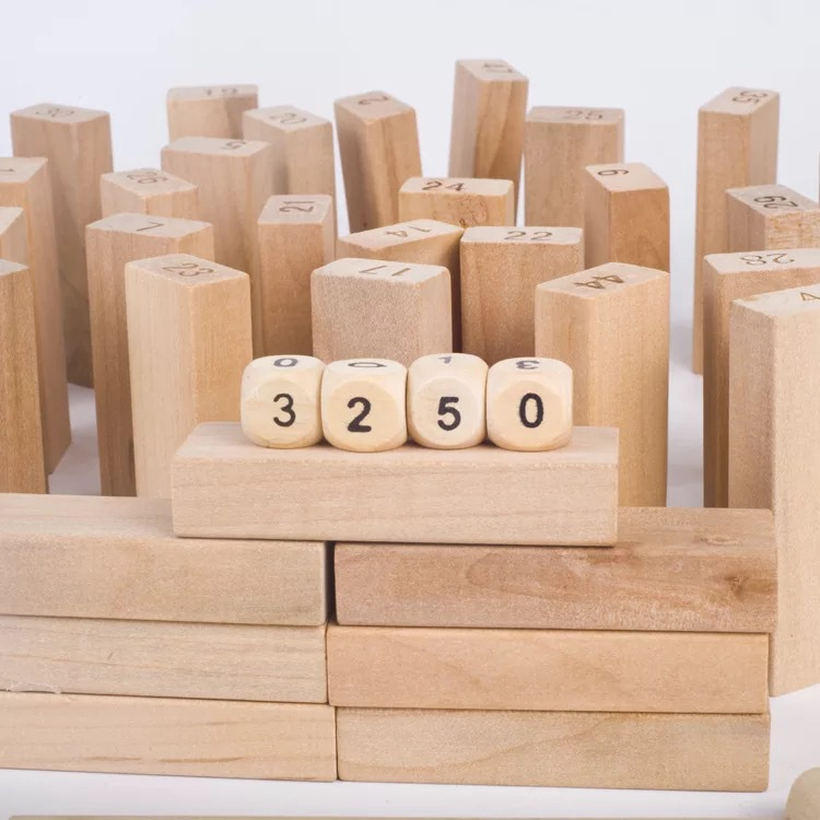 COMBO 2 bộ rút gỗ số và màu loại thanh lớn(2kg)