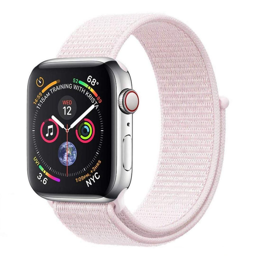 Dây Nylon Sport Loop Pearl Pink cho Apple Watch 38/40/42/44mm