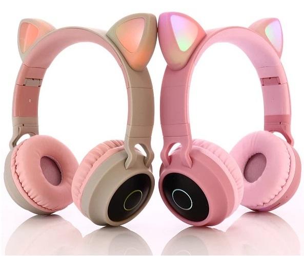 Tai Nghe Mèo Bluetooth BT-028C Siêu Đáng Yêu.