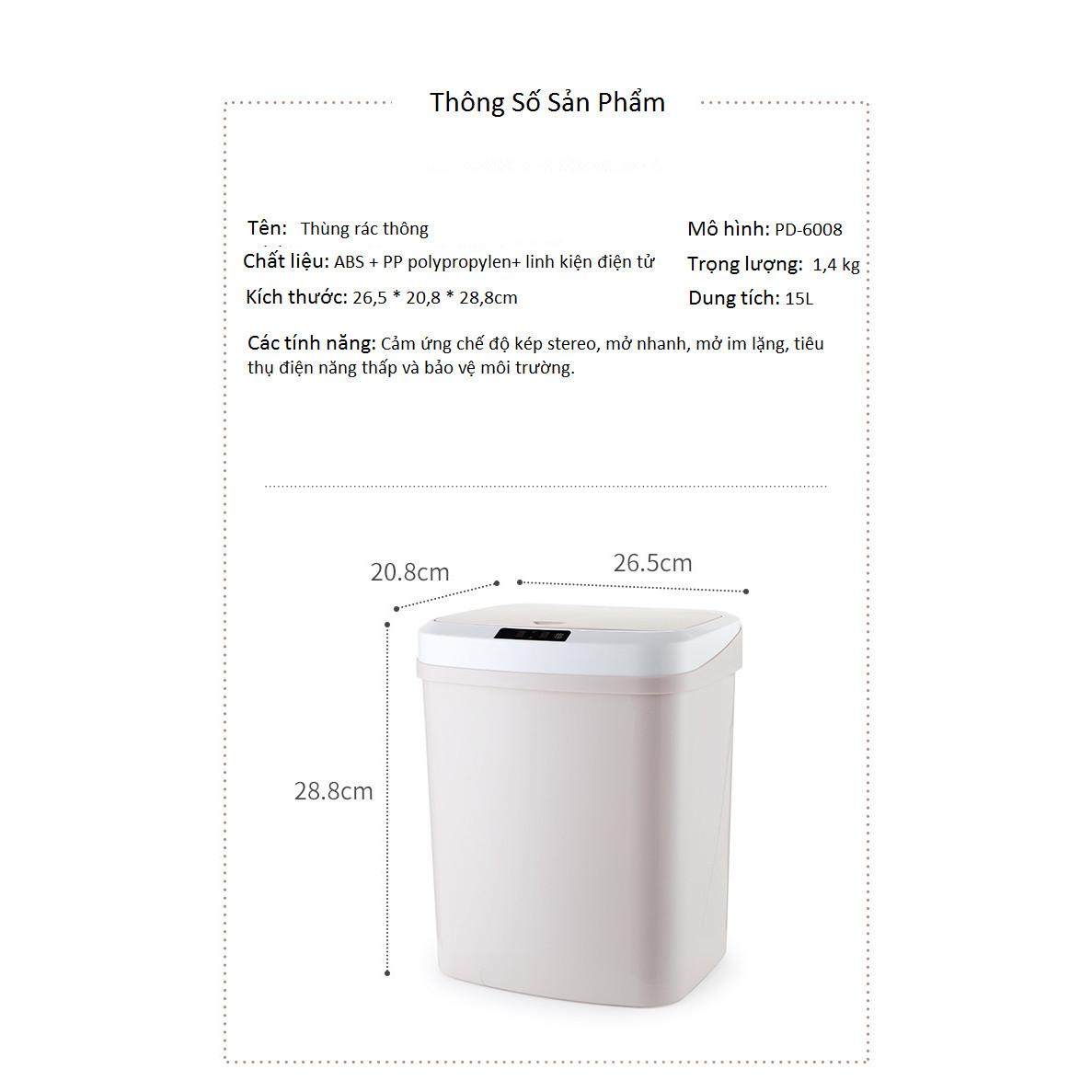 Thùng rác cảm ứng thông minh dùng trong văn phòng