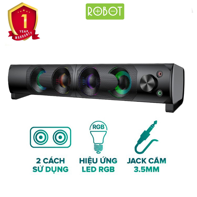 Loa Thanh Kiểu Dáng Gaming ROBOT RS300 - Hiệu ứng LED RGB - Công suất lớn 6W - Hàng Chính Hãng