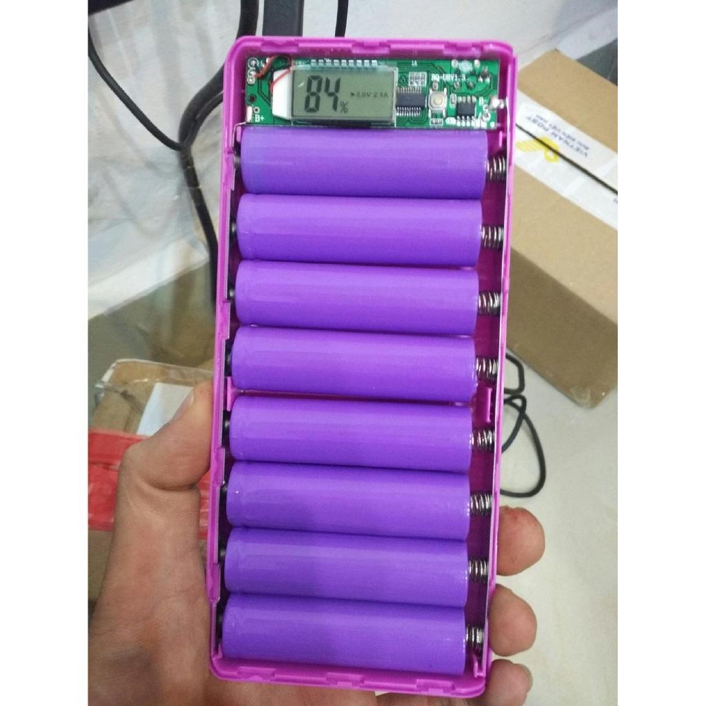 Hộp đựng pin dự phòng 8 khe pin đa năng