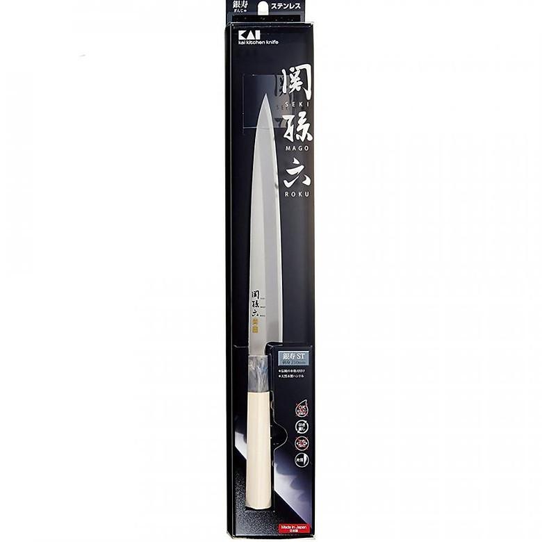 Dao Sashimi KAI Seki Magoroku Ginju - 21cm - Hàng chính hãng
