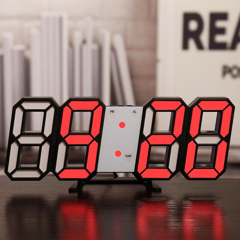 Đồng hồ treo tường Led kiểu dáng hiện đại- Đồng hồ LED 3D cao cấp