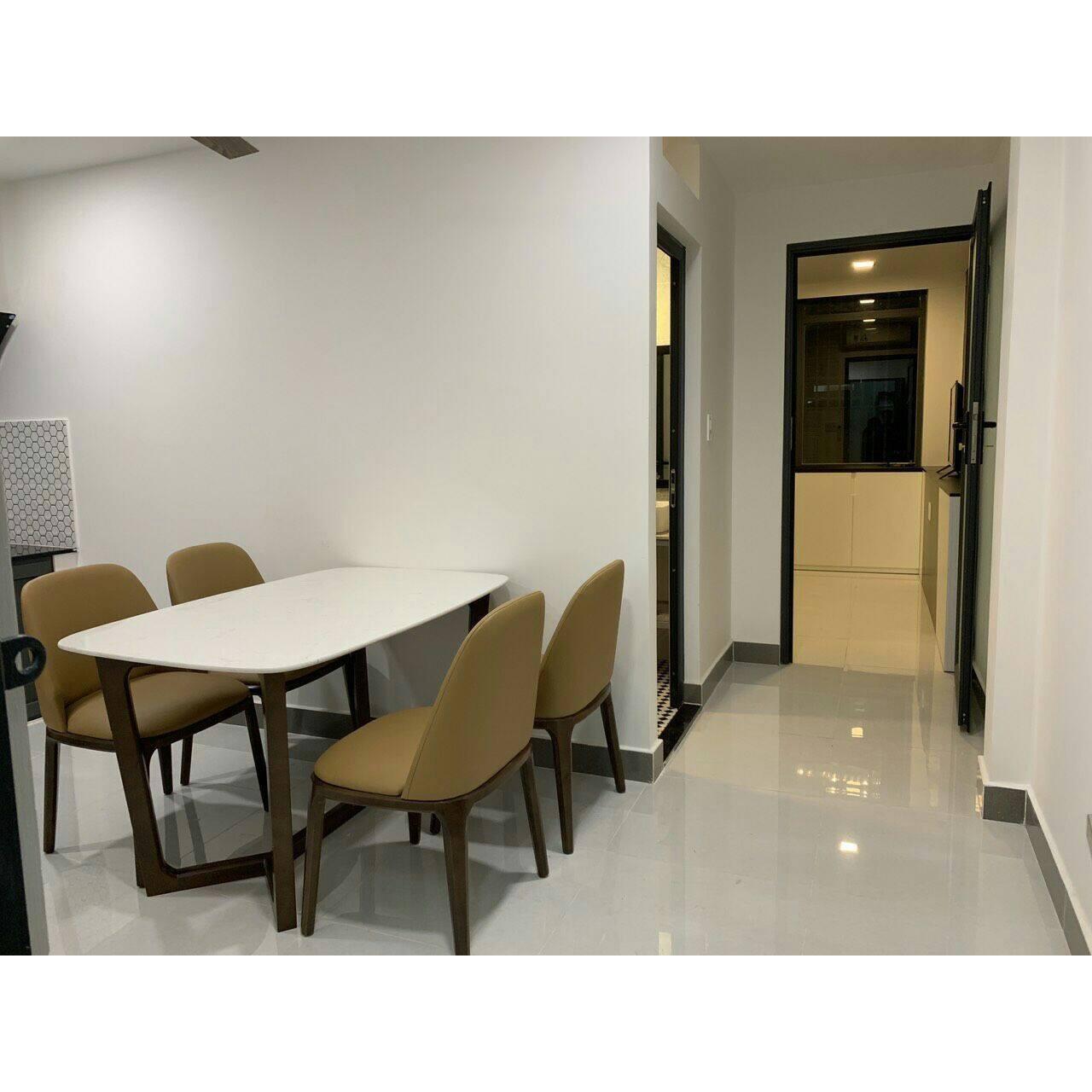 Bộ bàn ăn 4 ghế  mặt đá cao cấp  ( 1m4)