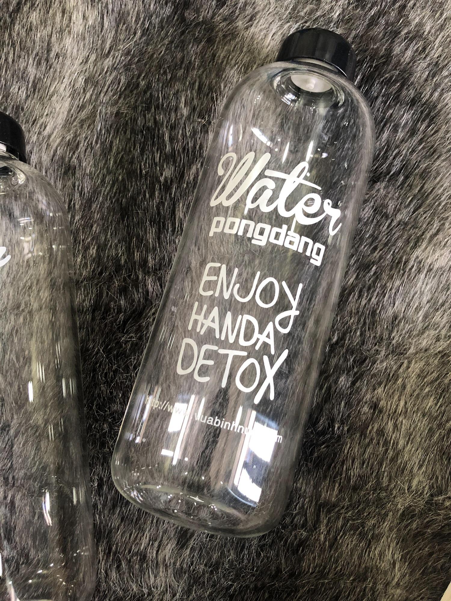 Bình thủy tinh Detox 1000ml kèm túi