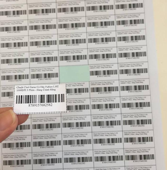 Xấp 20 tờ Giấy Decal A4 in mã vạch mincode