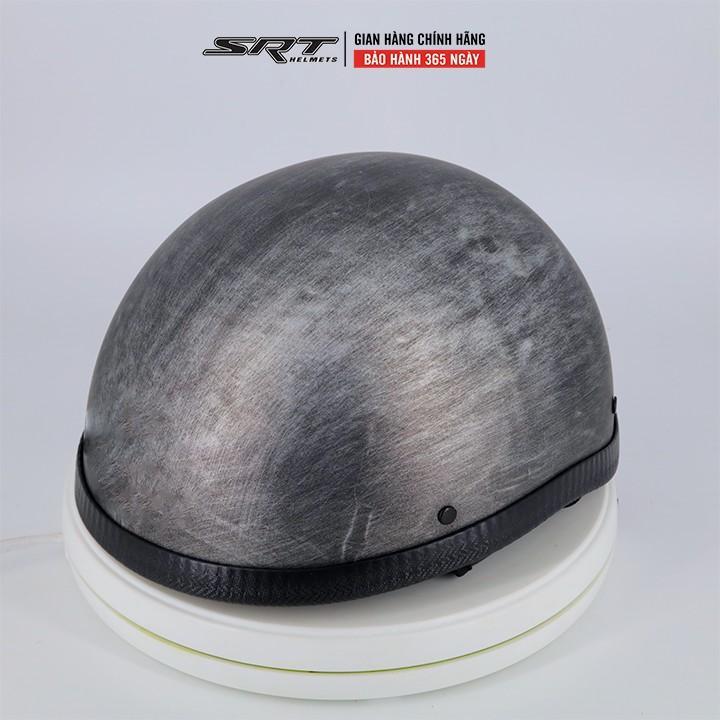 Mũ Bảo Hiểm Nửa Đầu SRT Xám Xước