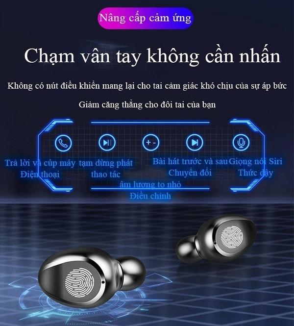 Tai nghe bluetooth PAGINI F9 – Phù hợp với tất cả các hệ điều hành – Âm thanh trầm ấm - TAI000F9B – Hàng nhập khẩu