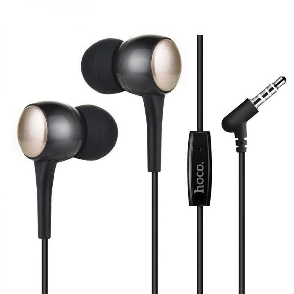 Tai nghe nhét tai Hoco cho IOS và Android super bass khử ồn M19 dây dài 1.2m - Hàng chính hãng