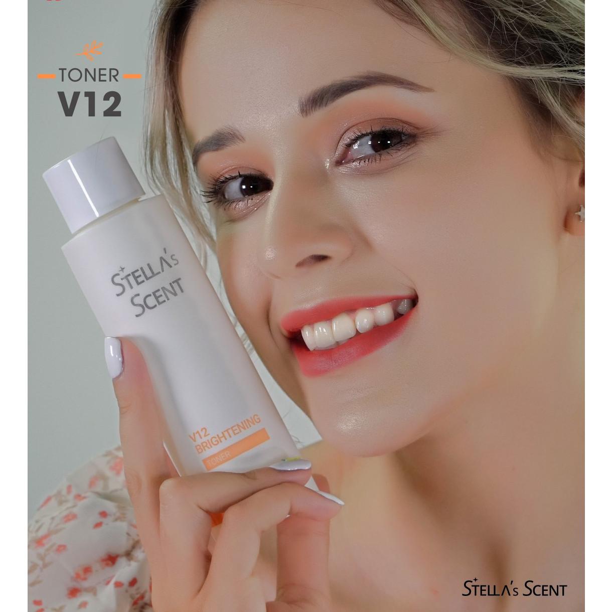 Nước Hoa Hồng Trắng Da V12 Stella's Scent - Stella's Scent V12 Brightening Toner