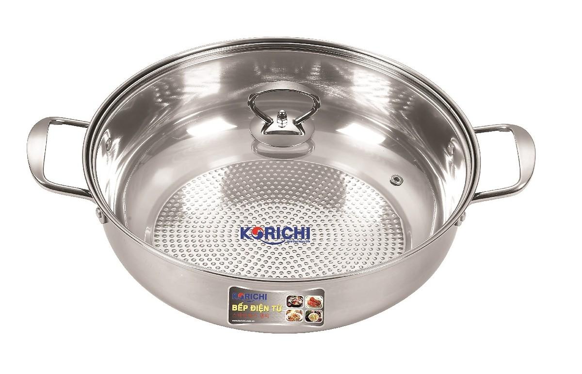 Bếp điện từ đơn chính hãng KORICHI KRC-3558 + Kèm nồi lẩu 1kg - Hàng Chính Hãng