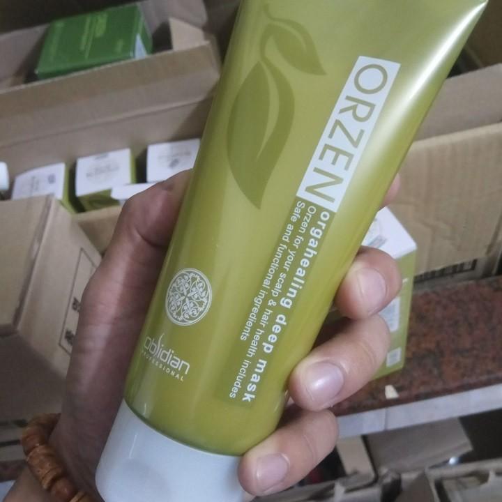 Mặt nạ ngăn ngừa rụng tóc Obsidian Professional Orzen Orgahealing Deep Mask Hàn Quốc 200ml Tặng kèm móc khoá