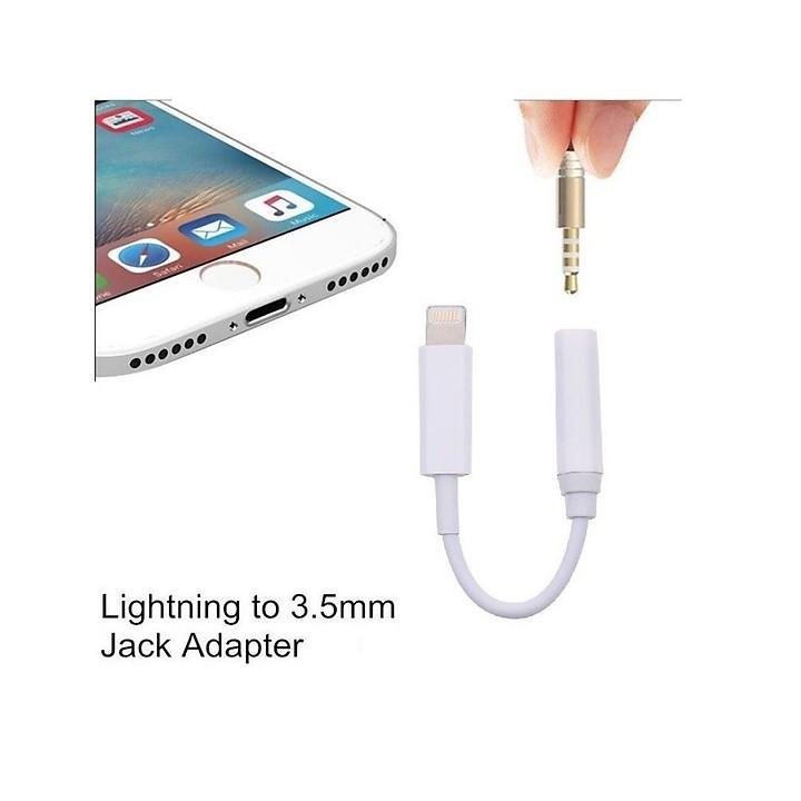 Cáp chuyển đổi lightning sang 3.5mm, cổng chuyển dùng cho các thiết bị của Smartphone của apple gồm điện thoại iphone, máy tính bảng ipad, dây chuyển đổi giữ nguyên chất lượng âm thanh tương thích với tất cả các tai nghe sử dụng Jack cắm 3.5. - Hàng Chính