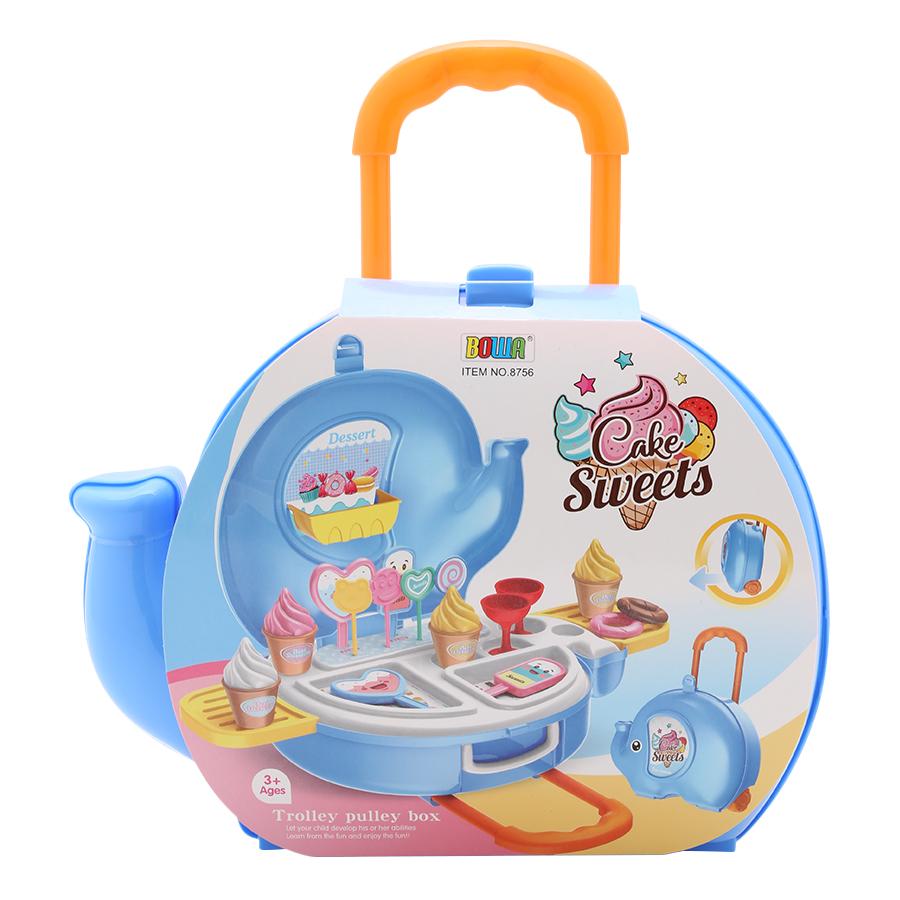 Bộ valy kéo hình voi tiệm bán kem Bowa 8756