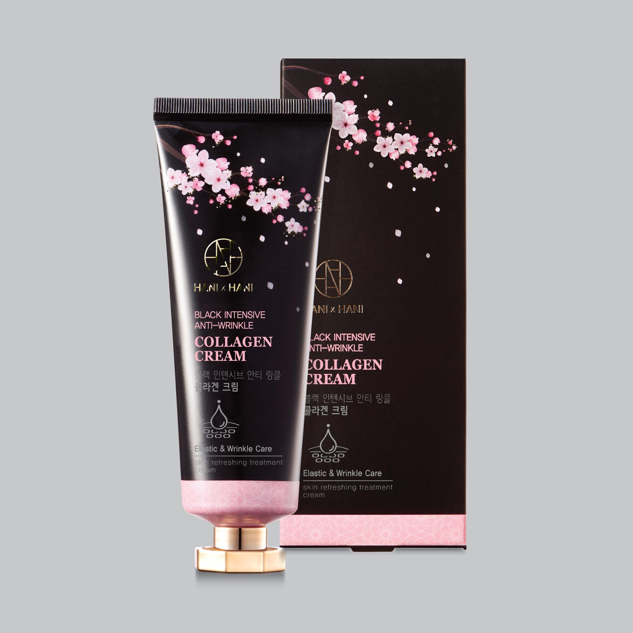 Kem Dưỡng Trắng Da Và Chống Lão Hóa Tinh Chất Collagen Hani x Hani 70G/ Hani x Hani Black Intensive Anti- Wrikle Collagen Cream