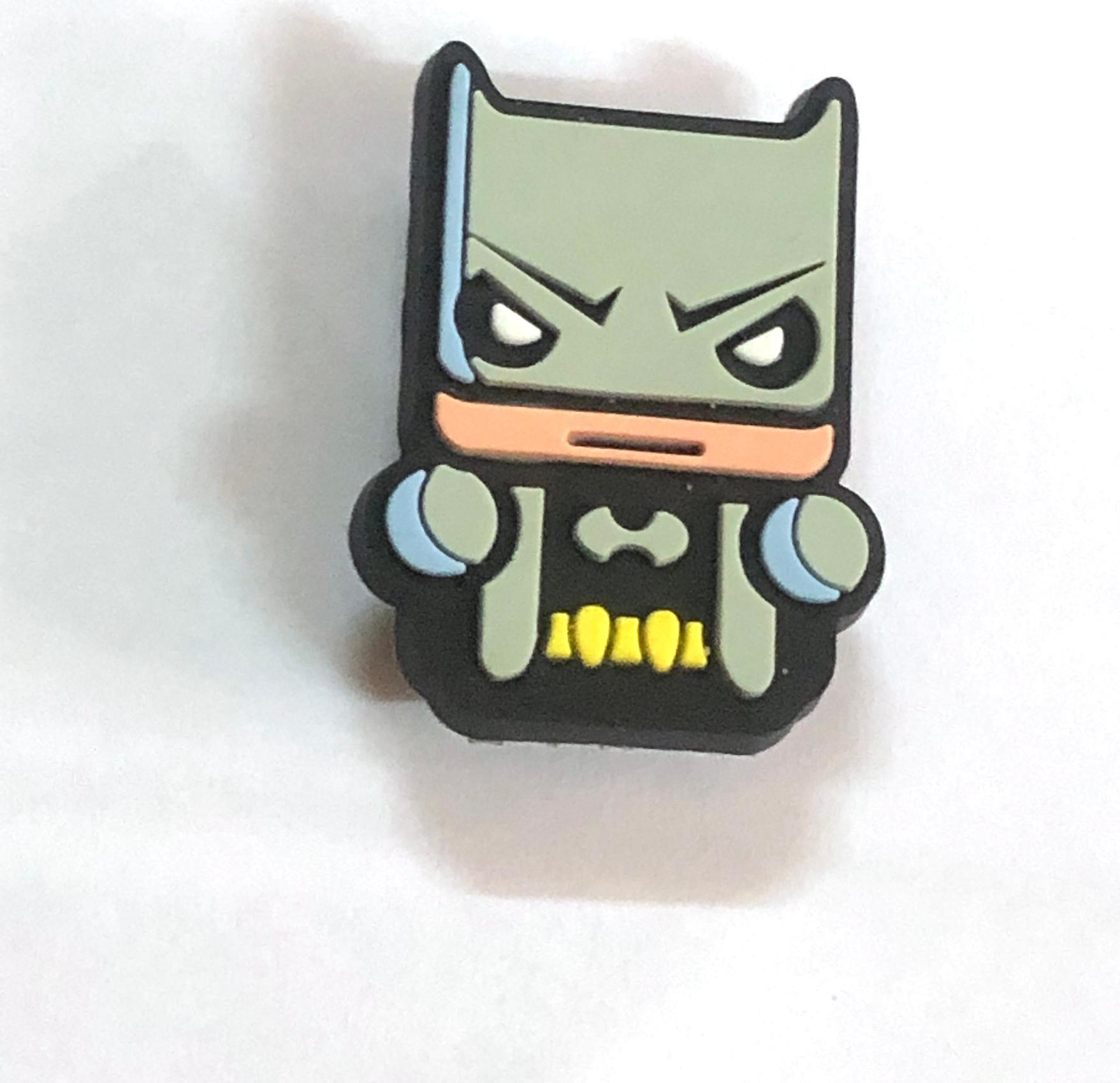 Combo 5 cái Sticker / Jibbitz, nút gắn dép sục, dép cá sấu dạng to hình siêu anh hùng