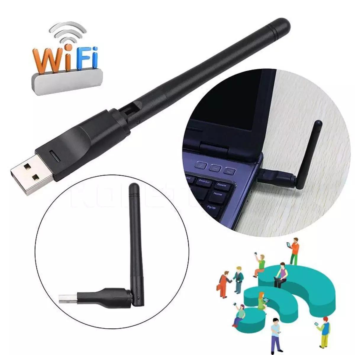 USB Thu Wifi Chuẩn N Tốc Độ Cao 150Mbps Tăng Khả Phạm Vi Thu Phát Sóng Wifi Cho Máy Tính Xách Tay, Máy Tính Để Bàn, Thiết Bị Thu Nhận Ngoại Vi
