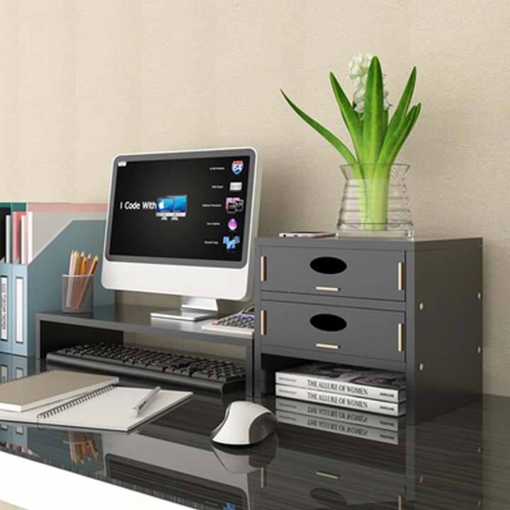 Giá kệ laptop máy tính và tài liệu văn phòng để bàn làm việc màu ngẫu nhiên