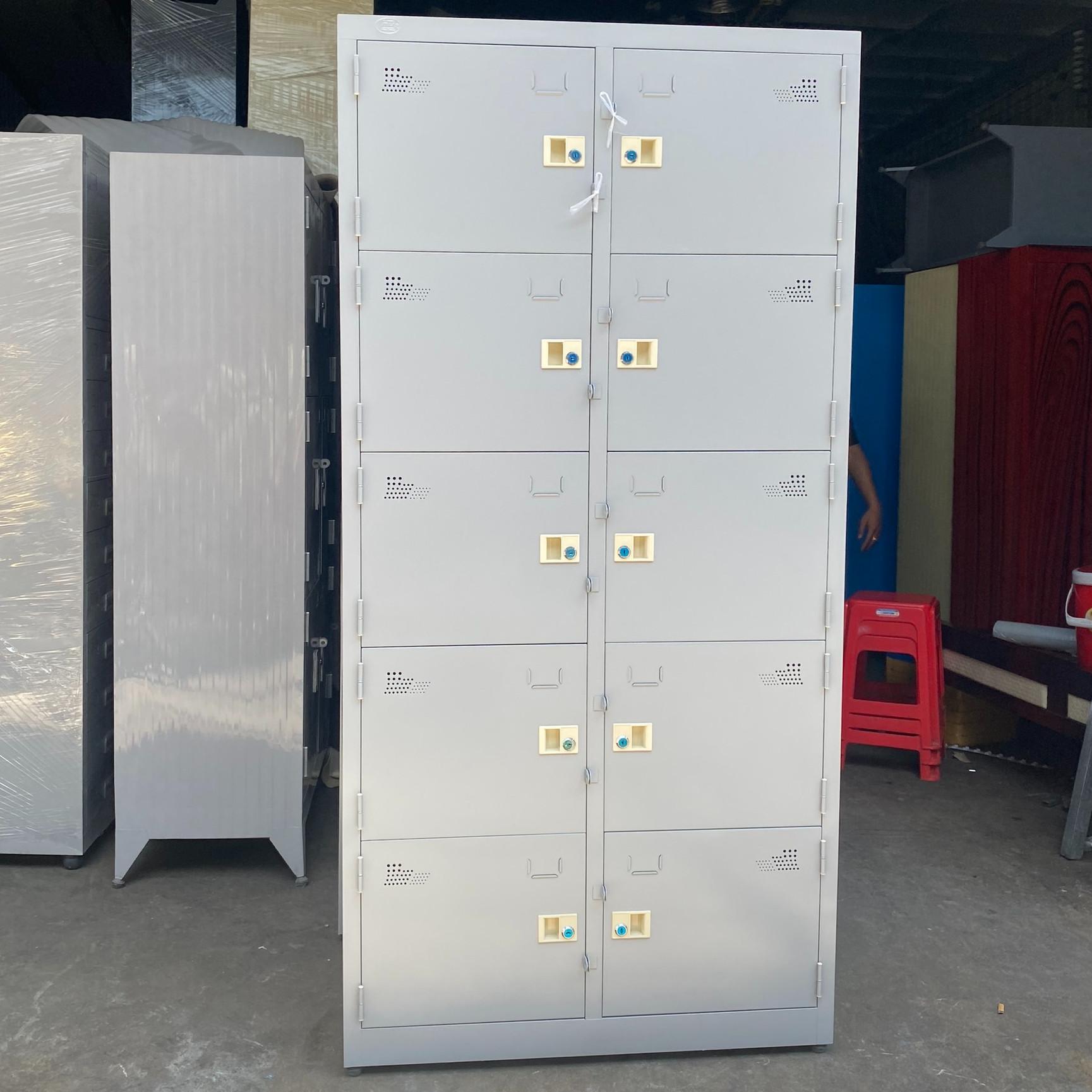 Tủ Hồ Sơ Locker Văn Phòng 10 cửa cao cấp 1m8x90