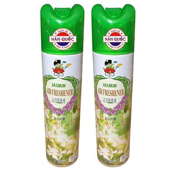 Combo 2 Chai Xịt Thơm Phòng Khử Mùi Hàn Quốc Hương Thiên Nhiên cho xe hơi 370ml