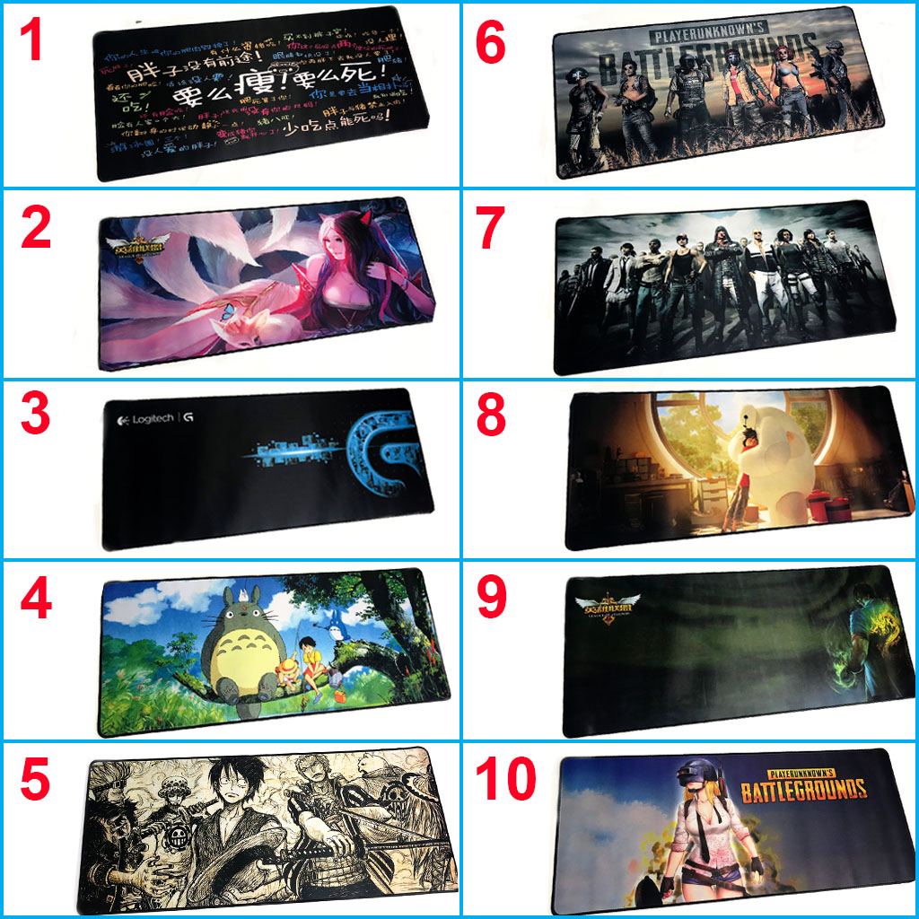 Miếng Lót Chuột, Bàn Di Chuột, mouse pad anime One Piece cỡ lớn (70x30x0.3) giao  hình  ngẫu nhiên