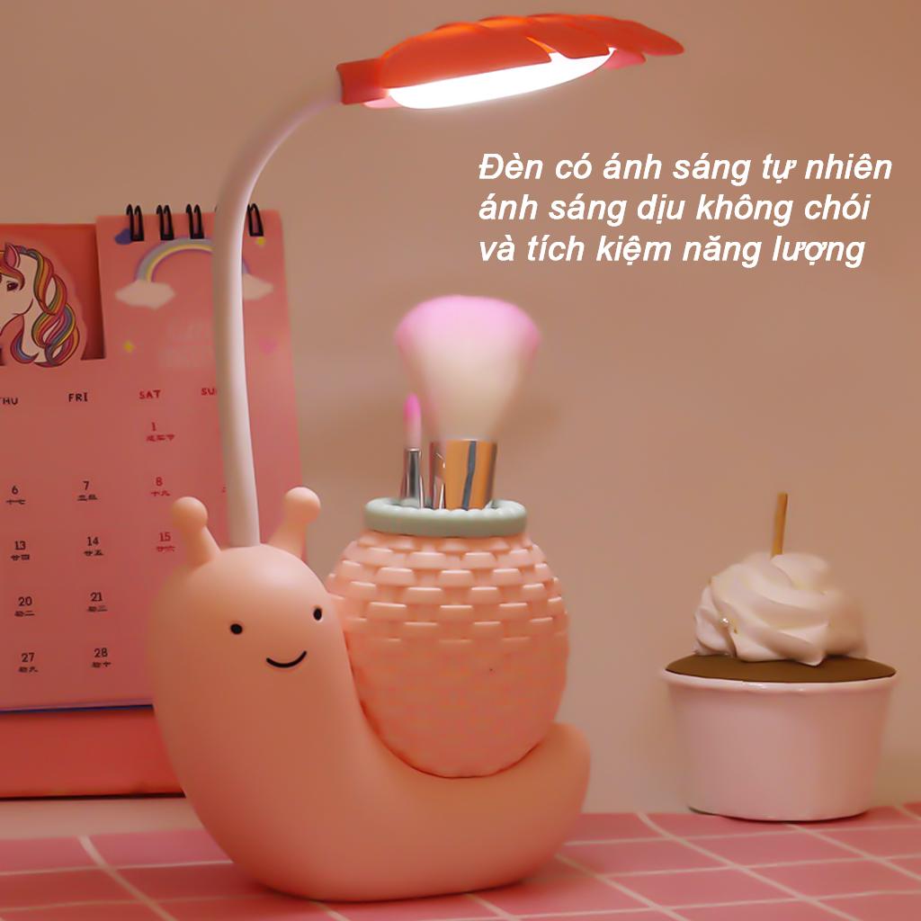Đèn học để bàn sạc usb hình thú dễ thương Có Thể Gập Xoay 360 độ (Học Sinh , Sinh Viên , Văn Phòng) LED Chống Cận - hình ốc sên - màu ngẫu nhiên - 4418